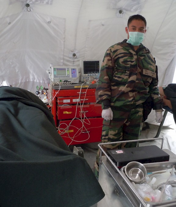 Mobile field hospital in Malaysia for responding to infectious disease threats. ©2013 Gary Flory