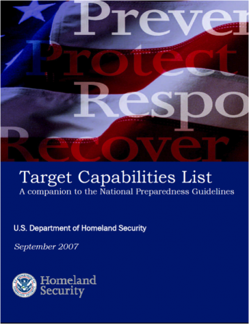Target Capabilities List. Source: DHS (2007).