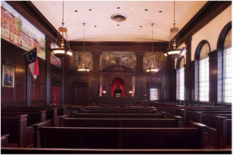 U.S. Courthouse and Post Office, Courtroom, New Bern, NC (Library of Congress)