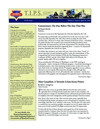 T.I.P.S. (Total Integrated Preparedness Solutions) Volume I, Issue 8 | DomPrep Journal