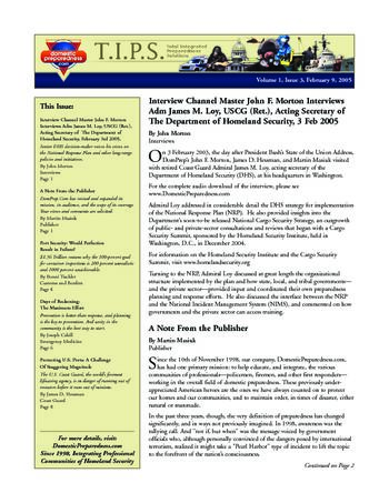 T.I.P.S. (Total Integrated Preparedness Solutions) Volume I, Issue 3 | DomPrep Journal